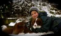 Wow look at Lachy and Ruby now.  The are living in the UK and having tons of fun in the snow...lucky Ruby!